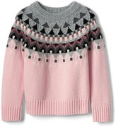 Gap Shimmer fair isle sweater