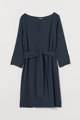 H&M Boat-neck Dress - Turquoise