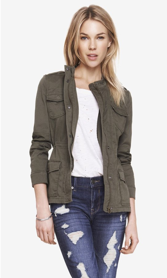 Express Stretch Cotton Military Jacket