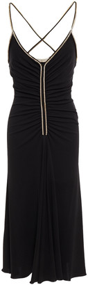 Emilio Pucci Ruched Swarovski Crystal-embellished Jersey Dress