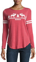 Chaser Holidaze Christmas-Print Top, Red