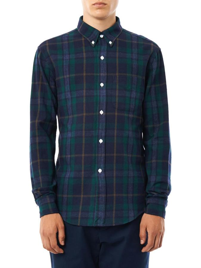 Band Of Outsiders Check-print flannel shirt