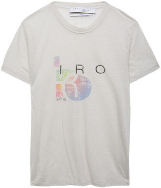 IRO Inspiring Slub Cotton-blend Jersey T-shirt