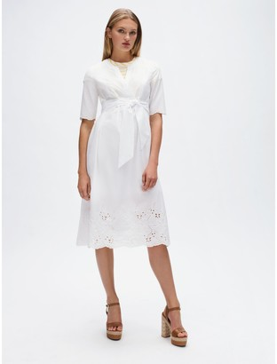 Tommy Hilfiger Relaxed Fit Lace Wrap Dress
