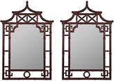 One Kings Lane Set of 2 Fred Mirror - Mohagany