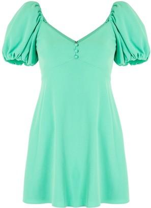 Alice + Olivia Puff Sleeve Mini Dress