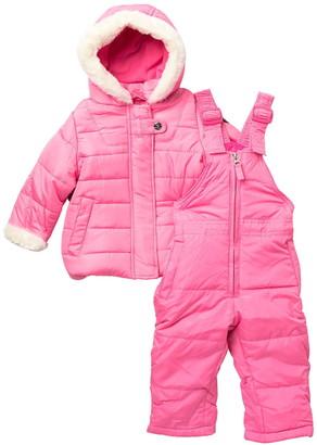 Jessica Simpson Faux Fur Trim 2-Piece Snow Suit