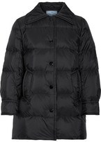 Prada Quilted Shell Down Jacket - Black