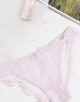 Dorina Isla lace brazilian brief in lilac
