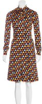 Givenchy Double-Breasted Geometric Print Dress