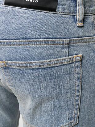 Balmain Biker ripped skinny jeans