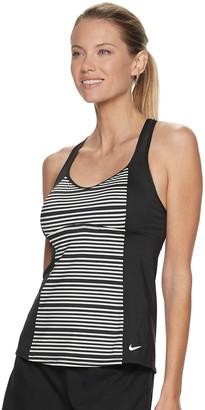 Nike Women's Striped Racerback Tankini Top
