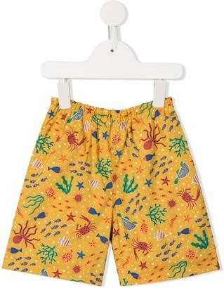 Familiar Fish Print Shorts