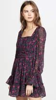 Divine Heritage Long Sleeve Square Neck Mini Dress