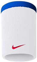 Nike White & Game Royal 2.0 Double-Wide Wristband