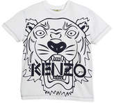 Kenzo Oversized Tiger Face Graphic T-Shirt, Size 4-6