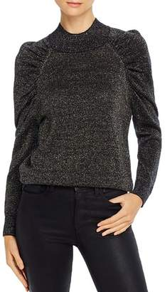 Joie Artima Metallic Puff-Sleeve Sweater