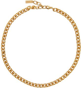 Saint Laurent Gold Small Chain Necklace