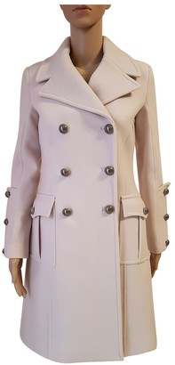 Elisabetta Franchi Beige Wool Coat for Women