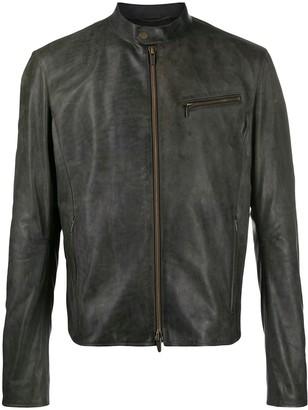 Ajmone Distressed Slim-Cut Jacket