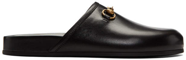 Gucci Black New River Clog Loafers