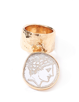 Edie Parker Single Coin Ring