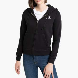 Converse Cotton Mix Zip-Up Hoodie with Logo and Pocket