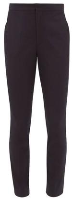 Maison Margiela High-rise Slim-fit Gabardine Trousers - Womens - Blue