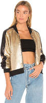 Blank NYC BLANKNYC Moon Dust Bomber in Metallic Gold. - size L (also in M,S,XS)