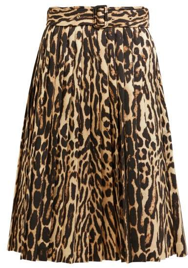 f2bed3b16c Pleated Leopard Skirt - ShopStyle