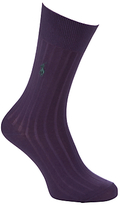 Polo Ralph Lauren Egyptian Cotton Blend Ribbed Socks, Pink