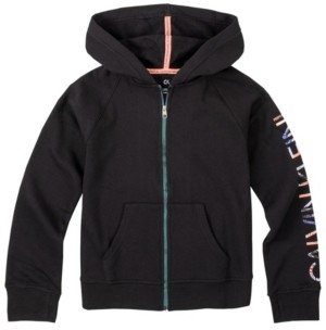 Calvin Klein Big Girls Metallic Zip Fleece Hoodie with Screenprint Foil