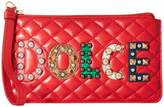 Dolce & Gabbana Quilted Nappa with Dolce Studded Patch Zip Mini Bag