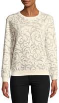 Karen Scott Petite Shaded Scroll Sweatshirt