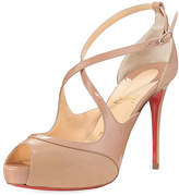 Christian Louboutin Mirabella Strappy Patent Red Sole Sandal