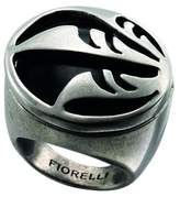 Fiorelli Costume Collection R2698 60 Ladies' Silver Openwork Disc Ring with Black Resin Inlay - Large