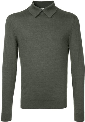 Cerruti Long-Sleeve Fitted Polo Top