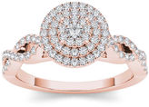 MODERN BRIDE 3/4 CT. T.W. Diamond 10K Rose Gold Engagement Ring