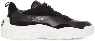 Valentino Gum Boy Leather & Suede Low Top Sneakers