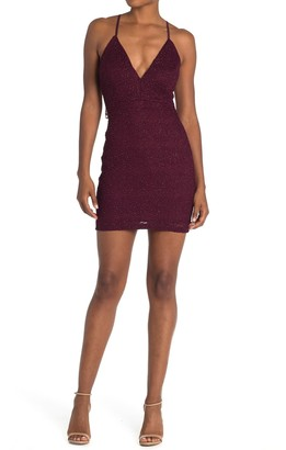 Love, Nickie Lew Glitter Lace Bodycon Mini Dress