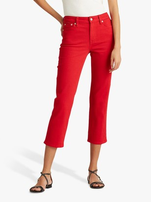 Ralph Lauren Ralph Cropped 5 Pocket Jeans, Bold Red Wash