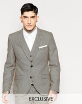 Heart & Dagger Dogtooth Suit Jacket In Super Skinny Fit