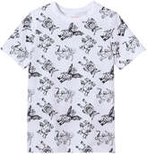 Joe Fresh Kid Boys' Graphic Print Tee, White (Size M)