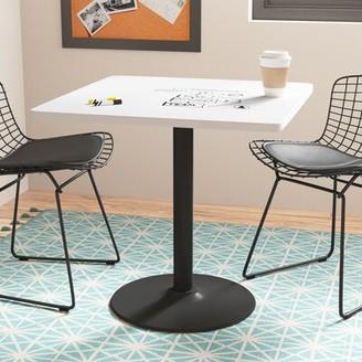 """KFI Studios Square Pedestal Table Size: 29"""" H x 30"""" L x 30"""" W, Base Finish: Black"""