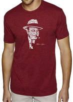 LOS ANGELES POP ART Los Angeles Pop Art Men's Premium Blend Word Art T-shirt - Al Capone-Original Gangster