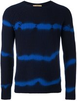 Nuur tie dye striped jumper