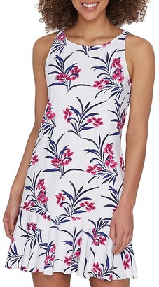 Tommy Bahama Oasis Blossom Flounce Cover-Up Dress