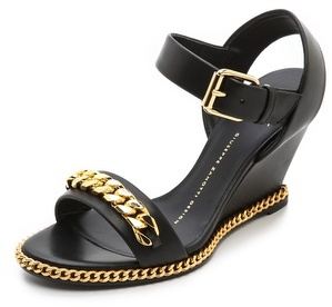Giuseppe Zanotti Metal Detailed Wedged Sandal