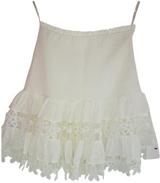 Zimmermann White Cotton Skirt for Women