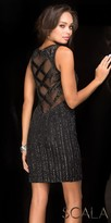 Scala Sparkling Illusion Keyhole Fitted Cocktail Dress